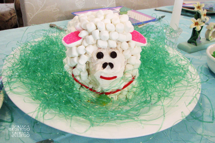 lamb cake with marshmallows