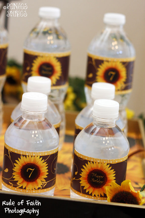 sunflower Bottle wraps on water bottles