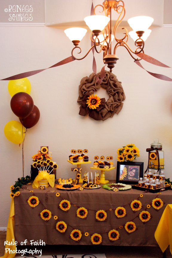 Real party sunflowers burlap renee s soirees