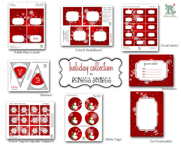 Printable Christmas Holiday items