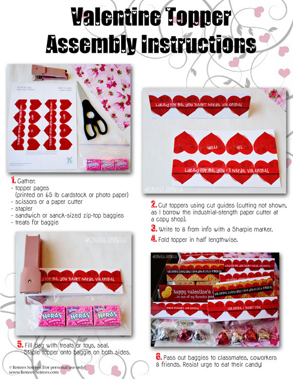 instructions on how to assemble a treat topper