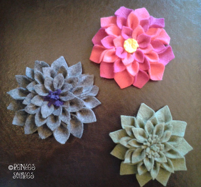 felt broaches craft