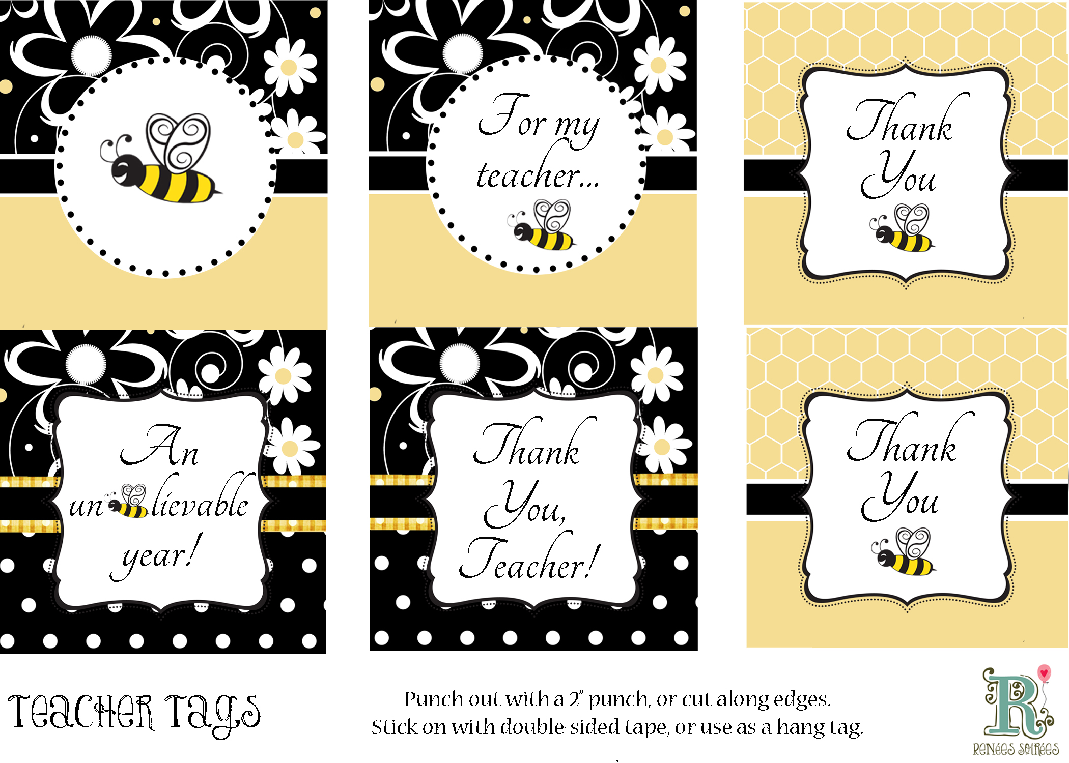 Freebie teacher appreciation renees soirees click here to download the teacher tags negle Gallery