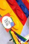 Lego 4 inch medallion as decor