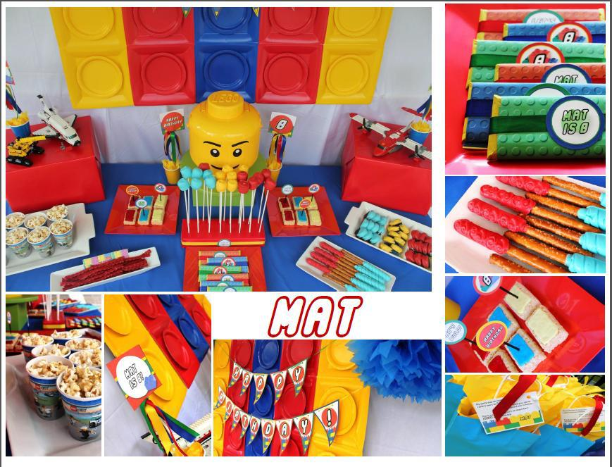 Lego party photo collage