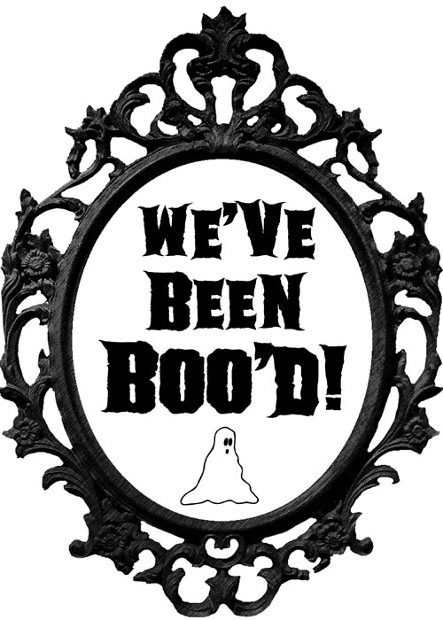 "Ornate Frame with ""We've Been Boo'd"" text"
