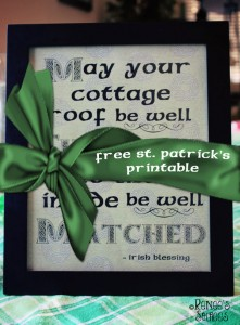 FREE Printable - Irish Blessing by @ReneesSoirees