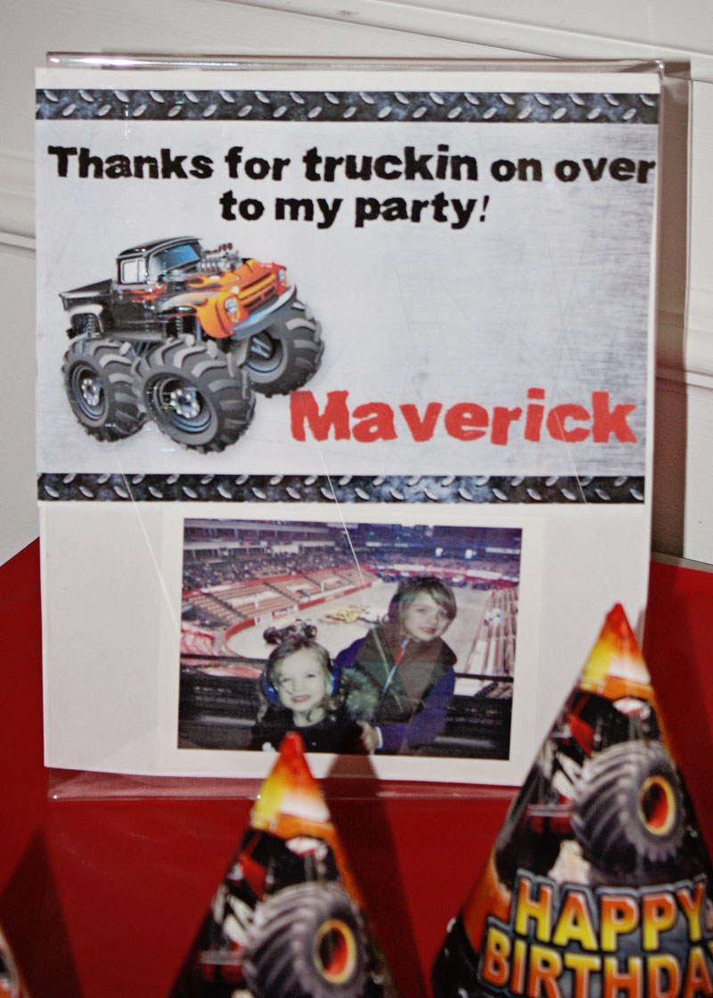 Monster Truck thank you card with photo