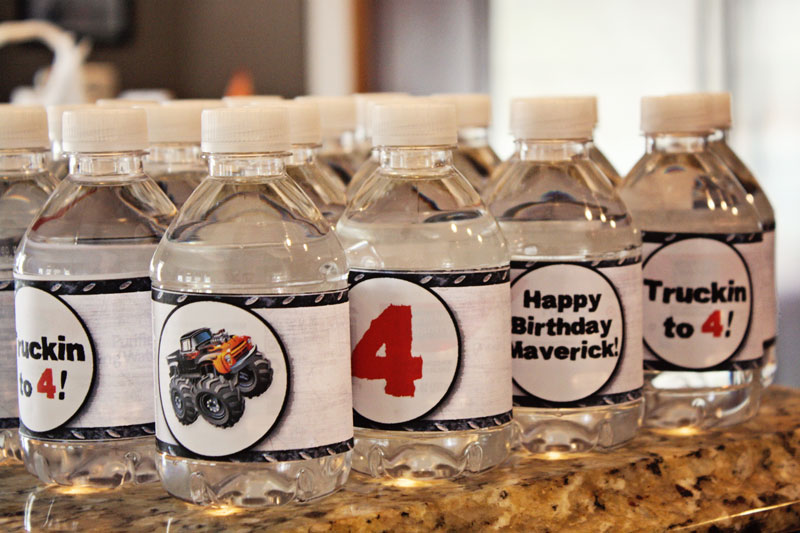 Monster Trucks water labels