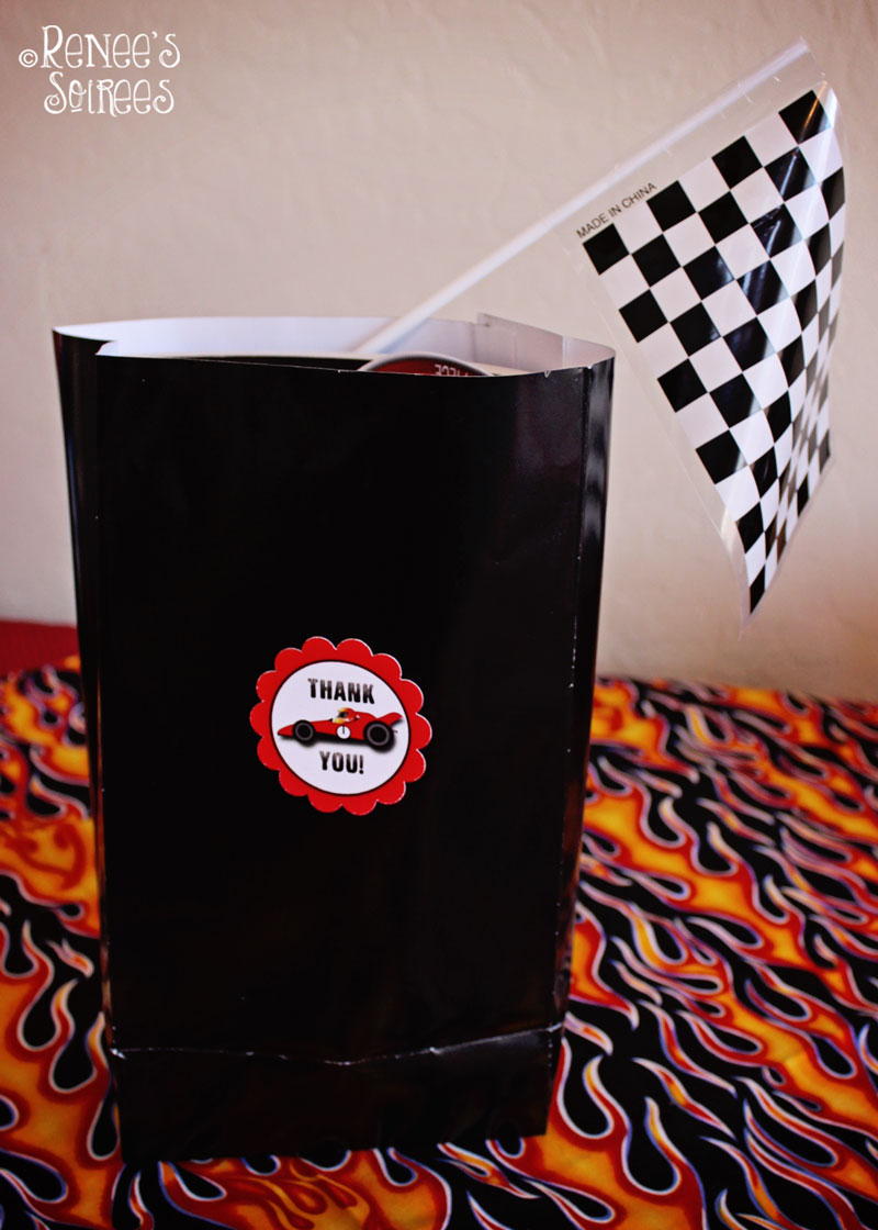 Racing-party-favor-bag