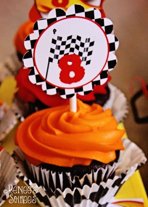racing party cupcake topper by Renee's Soirees