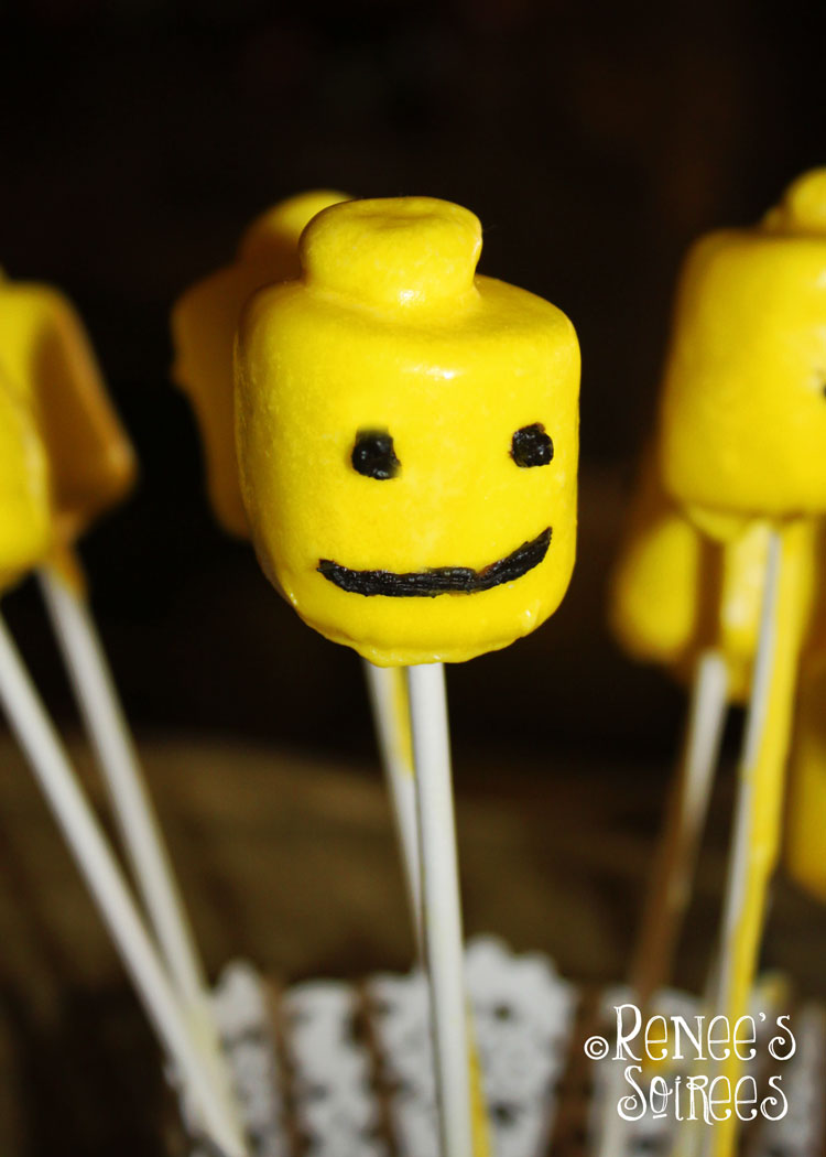 Lego marshmallow heads by @ReneesSoirees