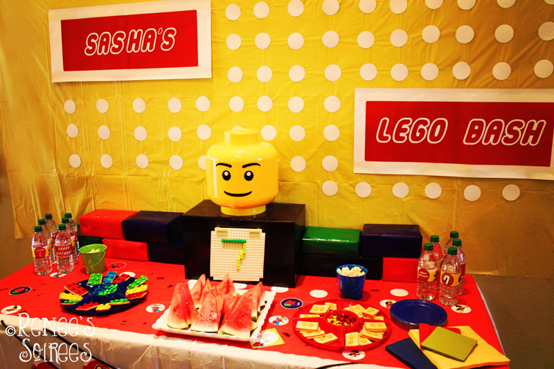 Lego party table by Renee's Soirees
