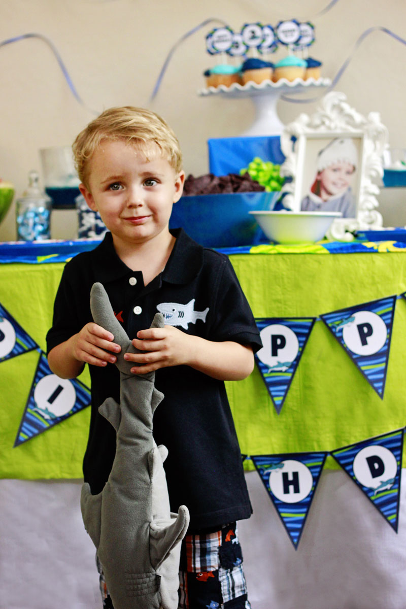 child-at-shark-party
