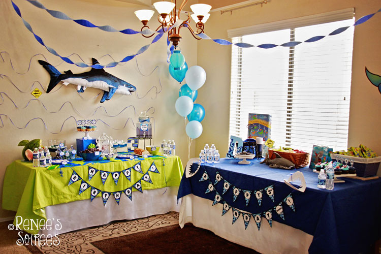 Real Party Shark Party Renee S Soirees Party