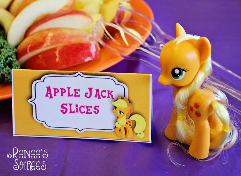 Apple Jack snacks at My Little Pony party by Renee's Soirees