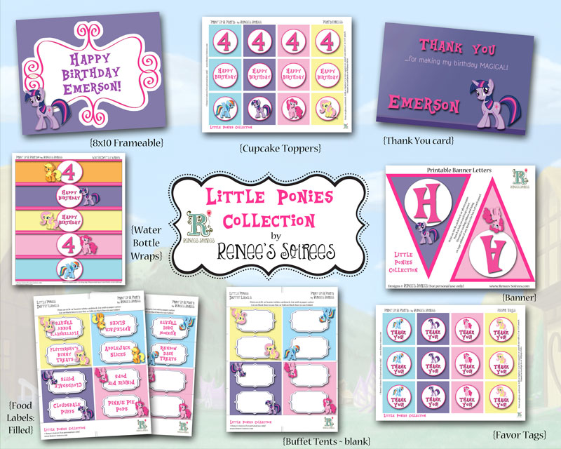 Solid Ponies Collection by Renee's Soirees