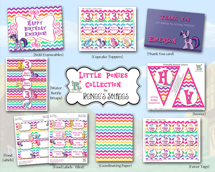 Chevron Ponies Collection by Renee's Soirees