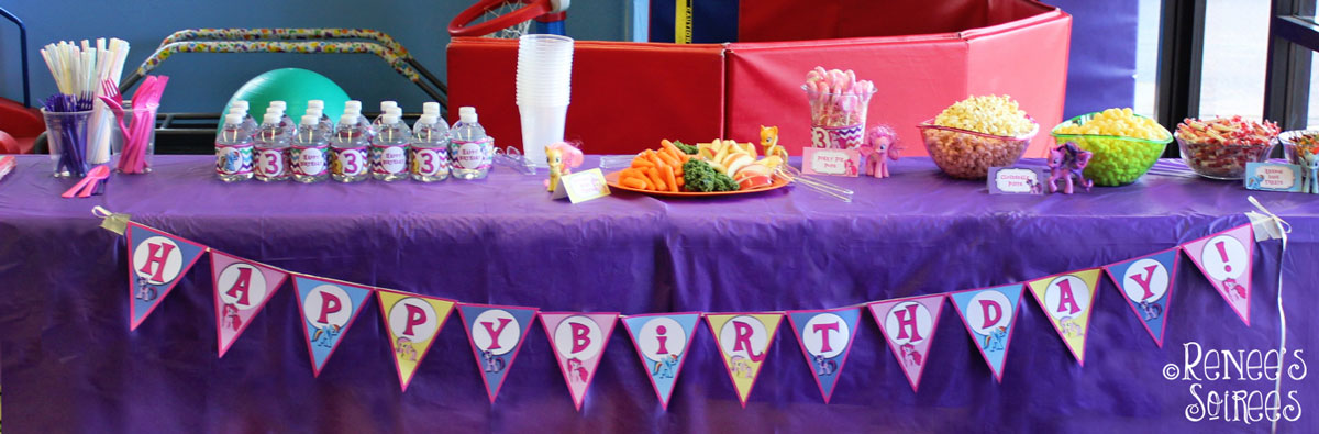 My Little Pony party table