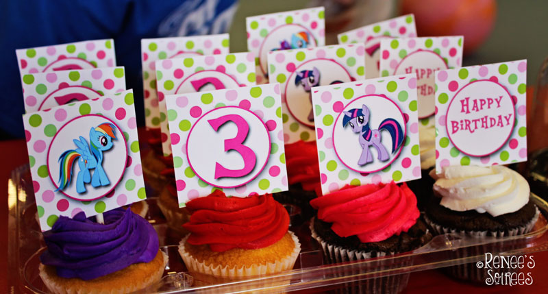 My Little Pony cupcake toppers by Renee's Soirees