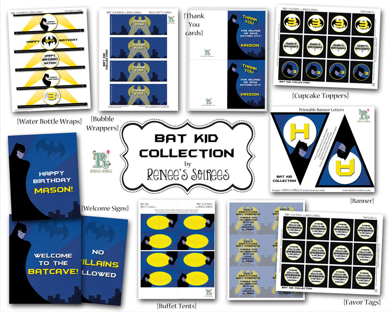 Batman printable collection by Renees Soirees