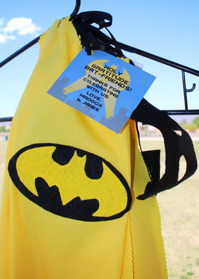 Batman favor tag