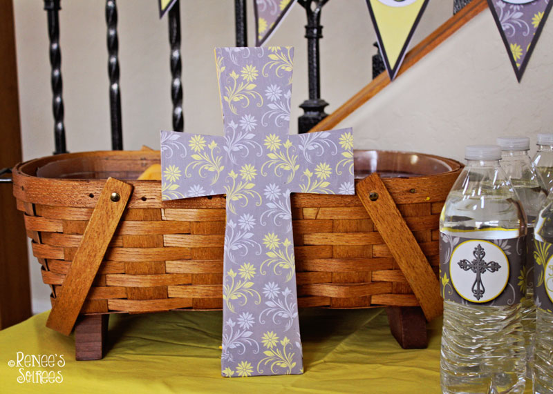 Decorated First Communion cross by Renee's Soirees (instructions included in post)!