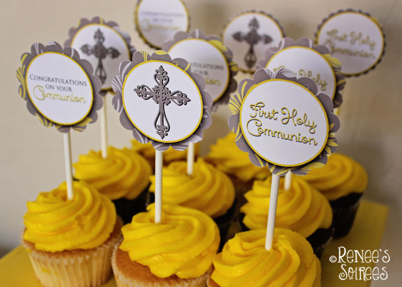 Communion cupcake toppers by Renee's Soirees