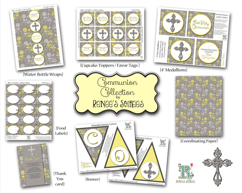 Communion printable Collection by Renee's Soirees